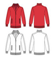 long sleeve jacket with zipper vector image
