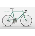 realistic racing bicycle road racing vector image