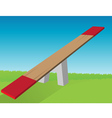 see saw vector image