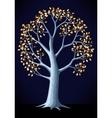 silver tree vector image