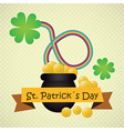 St Patricks Day concept with rainbow vector image