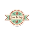 wedding retro badge with ribbons in vintage style vector image