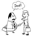 partners handshake vector image