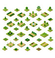 set of 3d isometric urban parks city natural vector image