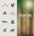 Hunter graphic elements vector image vector image