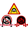 warning signs of bearded woman vector image vector image