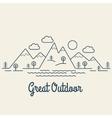 Great Outdoor vector image