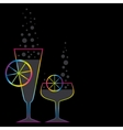 two coctails vector image vector image