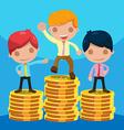 Man Worker Success Winner Coin vector image