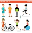 Set of the people playing sports vector