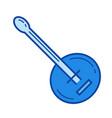 banjo line icon vector image