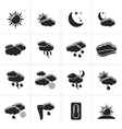 Black Weather and meteorology icons vector image