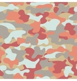 Camouflage seamless pattern in orange grey red vector image