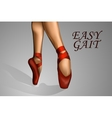 feet in red shoes ballerina vector image