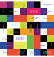 Geometric colorful background Seamless Colorful vector image