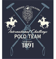 horseback polo sport international challenge vector image