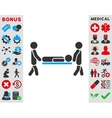 Patient Stretcher Icon vector image