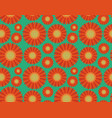 seamless pattern orange gerbera flowers vector image
