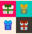 set of presents vector image