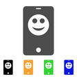 smartphone smiley icon vector image