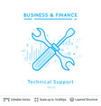 technical support symbol on white vector image