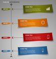 Time line info graphic colored striped paper vector image
