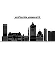 usa wisconsin milwaukee city architecture vector image