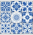 Vintage ceramic tiles Floor vector image