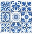 Vintage ceramic tiles Floor vector image