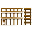 wooden ladder and floors vector image vector image