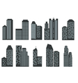 Silhouettes of skyscrapers vector image vector image