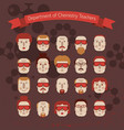 set of various doodle faces vector image vector image