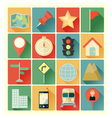 flat icons map vector image