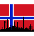 Industry and flag of Norway vector image