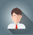 head face man people icon business vector image