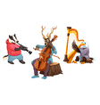 Isolated Musicians vector image
