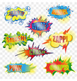 pop art comic explosive bubble set vector image