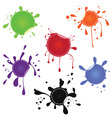 realistic sticker in the form of blots for discoun vector image
