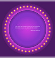 retro circular background with light bulbs retro vector image