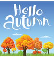Autumn landscape with yellow and orange trees vector image vector image