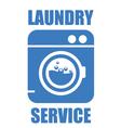 Laundry washhouse service simple icon vector image