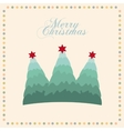 merry christmas tree pine decoration card vector image