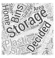 plastic storage bins Word Cloud Concept vector image