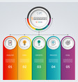 infographic template with 5 options vector image vector image