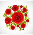 flower rose label vector image