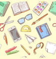back to school background education hand drawn vector image