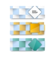 banners and squares Color vector image