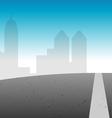 road city skyline vector image vector image