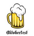 Oktoberfest emblem poster or label vector image