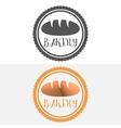Set of logo badge label emblem and logotype vector image